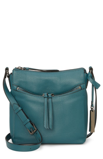 Vince Camuto Staja Leather Crossbody Bag - Blue In Deep Teal