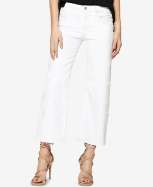 Sanctuary Robbie High-rise Cropped Flared Jeans In White