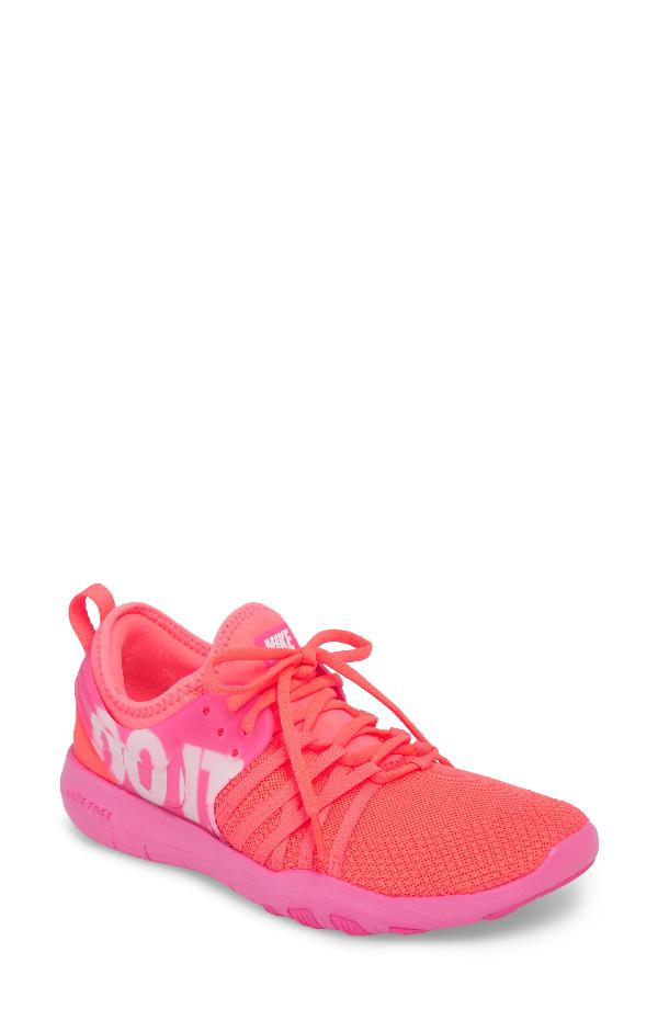 21f7b1b32b053 Nike Free Tr 7 Premium Training Shoe In Hot Punch  White