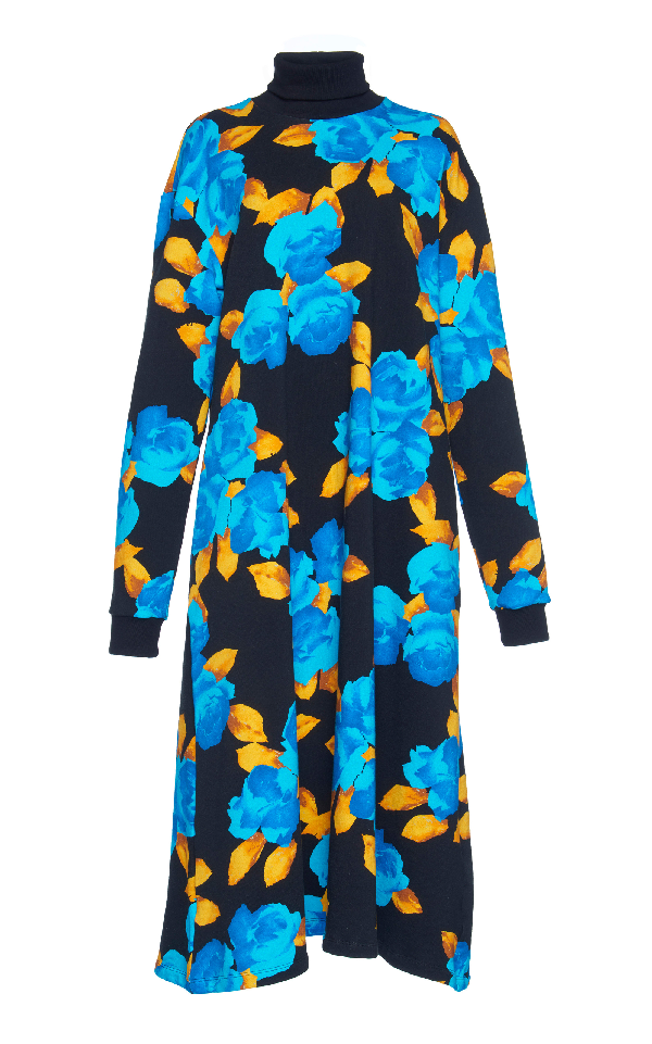 Msgm Floral Sweatshirt Dress