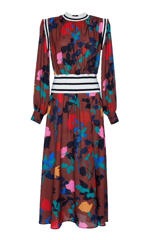 Msgm Floral Silk Dress