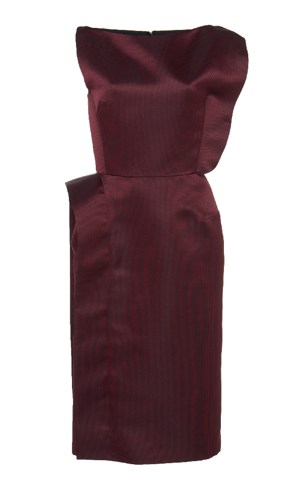 Lanvin Satin Dress In Burgundy