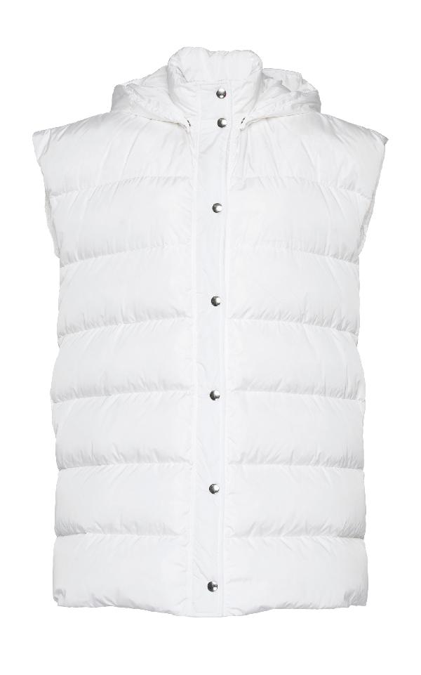 Msgm Oversize Down Vest In White
