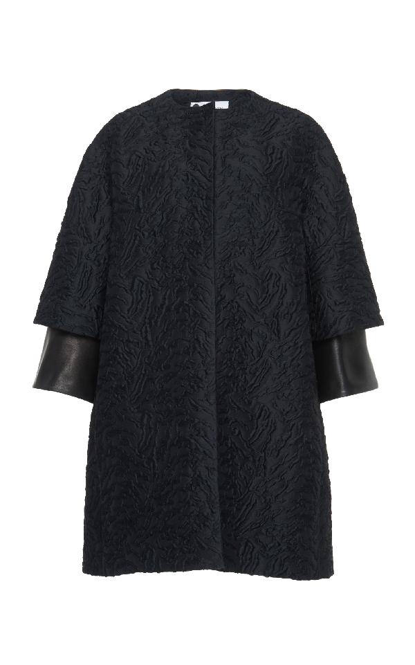 Lanvin Kimono Coat In Black