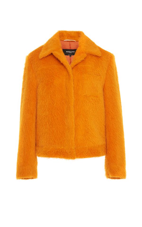 Rochas Alpaca Jacket In Orange