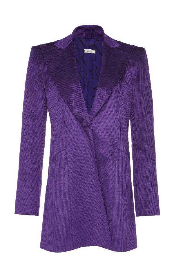 Nina Ricci Corduroy Stretch Jacket In Purple