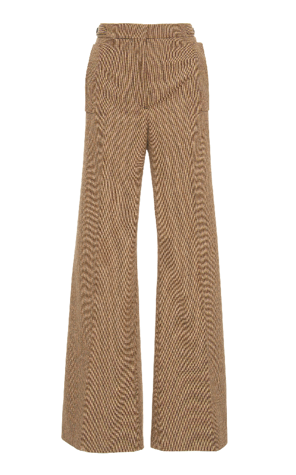 Rochas Flared Trousers In Brown