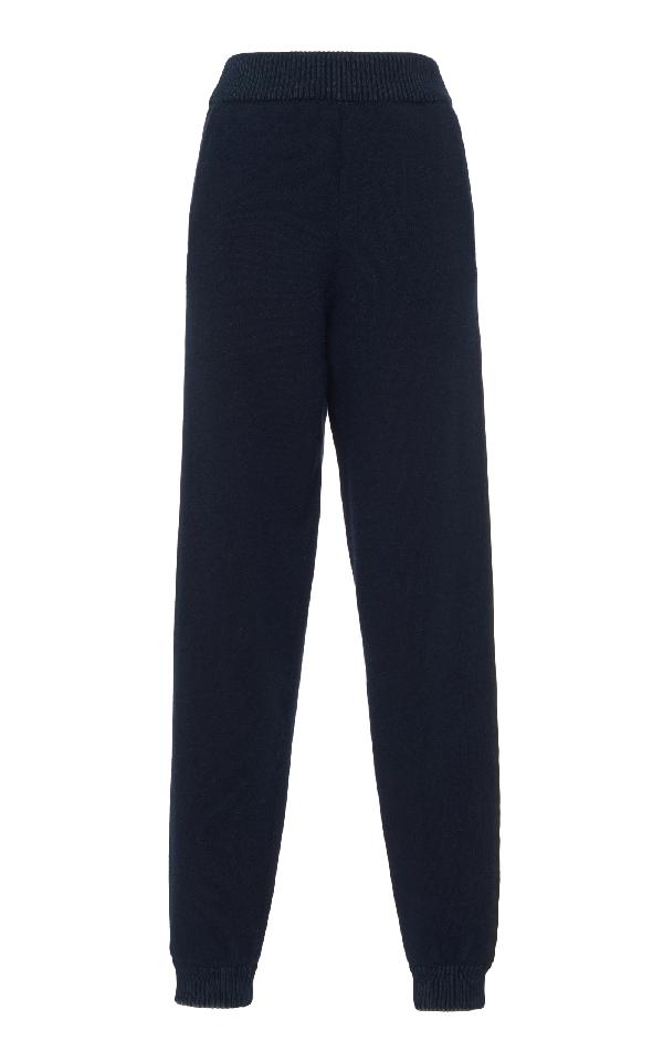 Lanvin Knit Jogging Pant In Navy