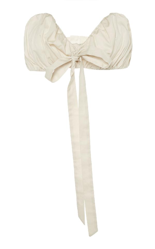 Cult Gaia Seashell Bra Top In White