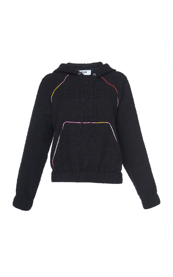 Msgm Hooded Sweatshirt In Black