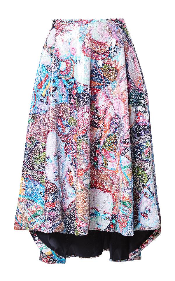 Romance Was Born Protagonist Sequin Midi Skirt In Multi