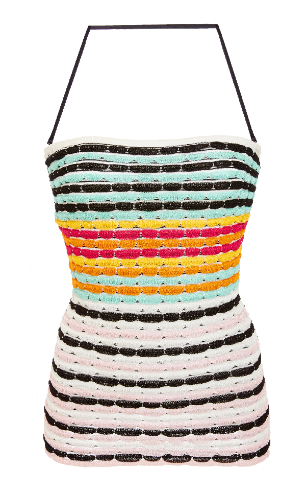 Missoni Bandage Halter Top In Stripe