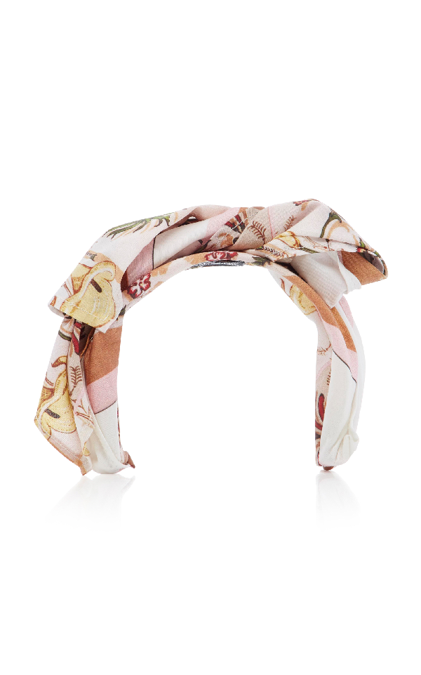 Albertus Swanepoel Theda Wrapped Cotton Headband In Pink