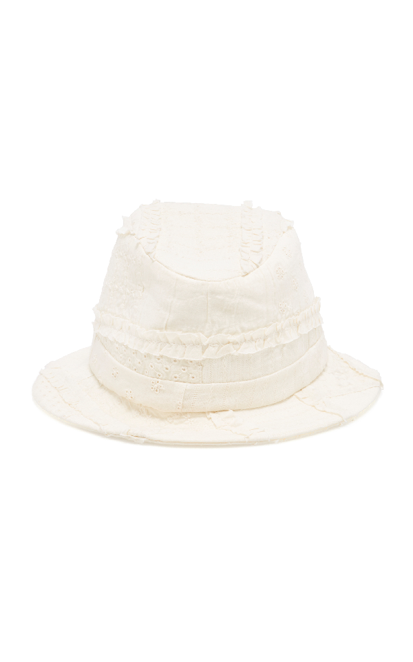 Gigi Burris Corbin Sewn Bucket Hat In Grey