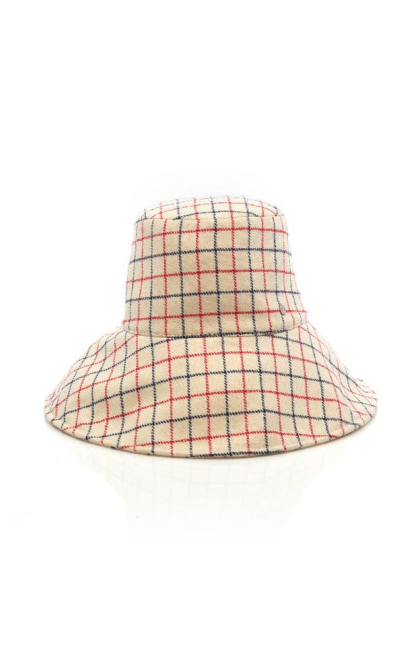 Maison Michel Isabella Checked Wool Bucket Hat In Plaid