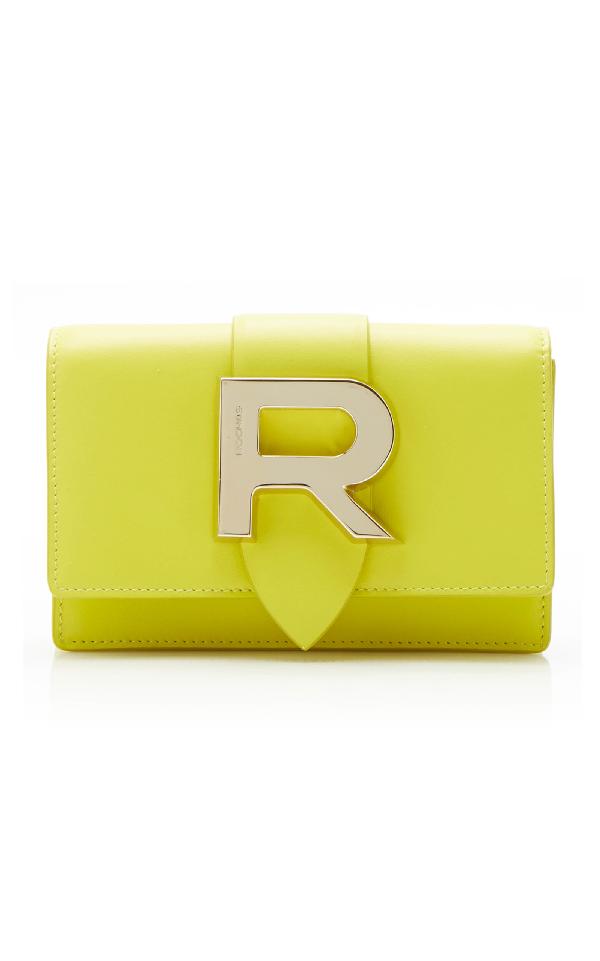 Rochas Baguette Crossbody In Yellow