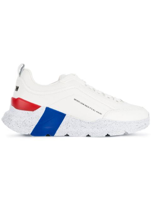 Msgm Never Look Back Sneakers In White