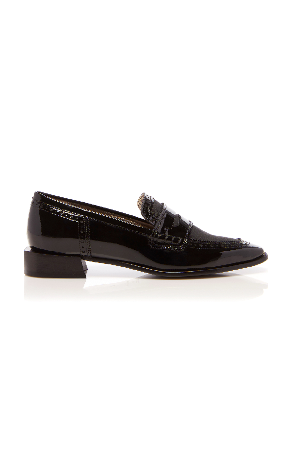 Lanvin Mocassin Patent Loafer In Black
