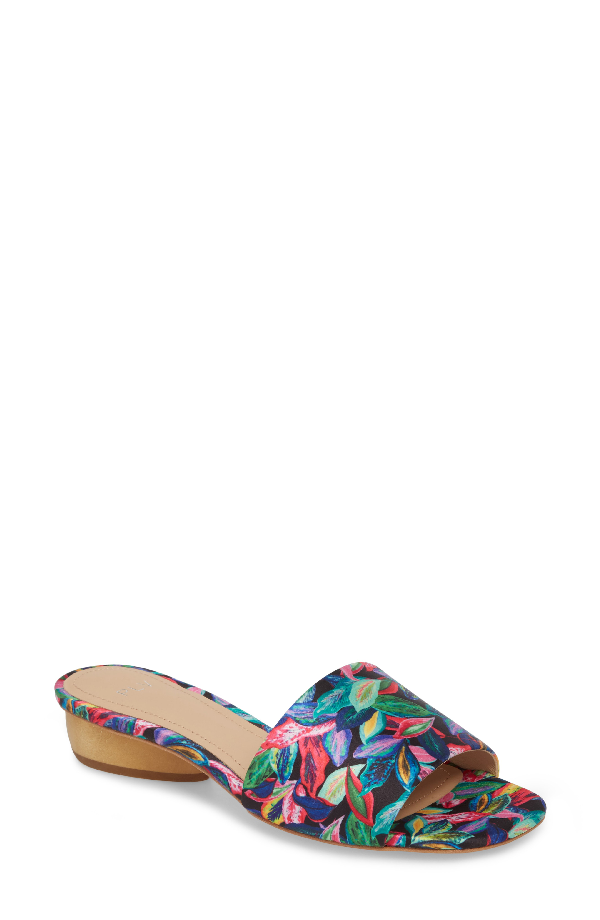 Pour La Victoire Mallory Slide Sandal In Tropic Trip Satin