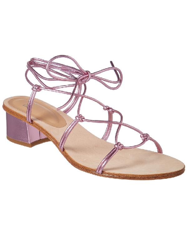 Pour La Victoire Jules Ankle Tie Sandal In Pink