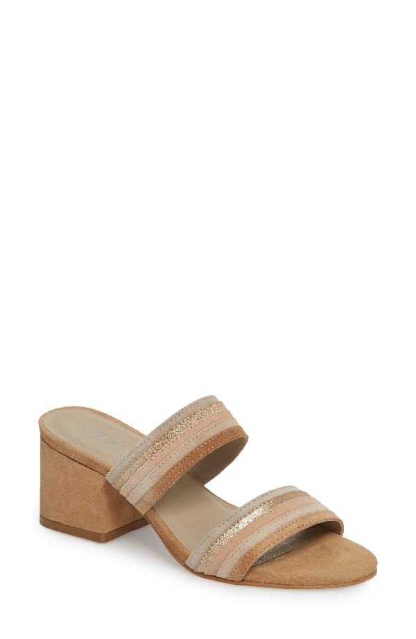 Matisse Bonita Slide Sandal In Natural Suede