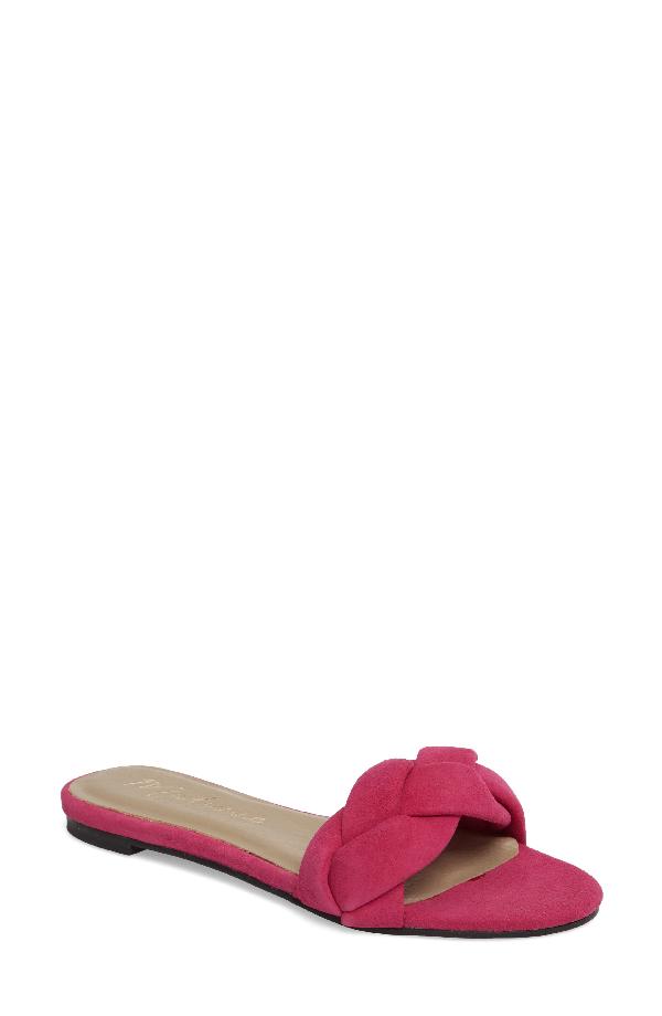 Matisse Georgie Slide Sandal In Magenta Suede