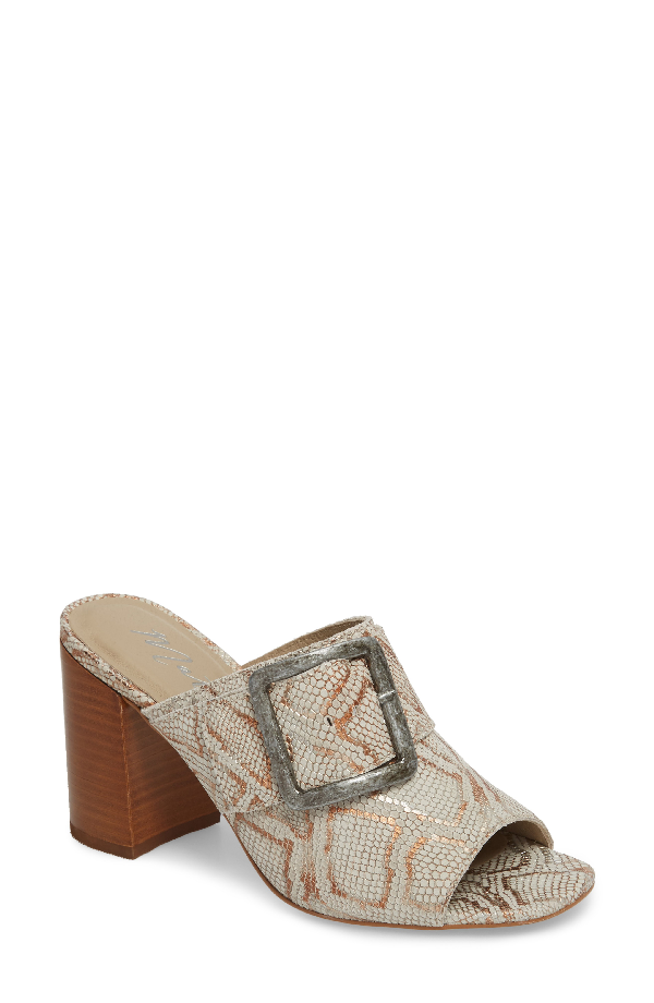Matisse Beatrice Sandal In Grey Snake Leather