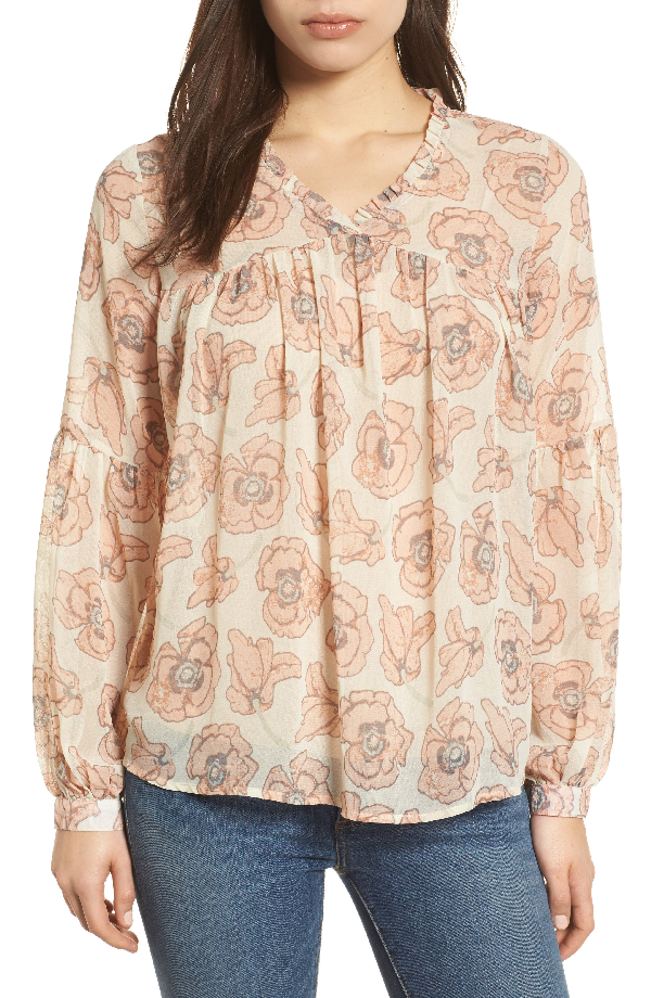 Lucky Brand Trendy Plus Size Floral-print Top In Pink Multi