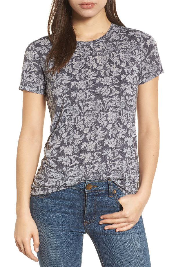 Lucky Brand Printed T-shirt In Blue Multi