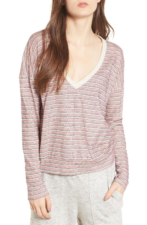 Splendid Stripe Pullover In Off White