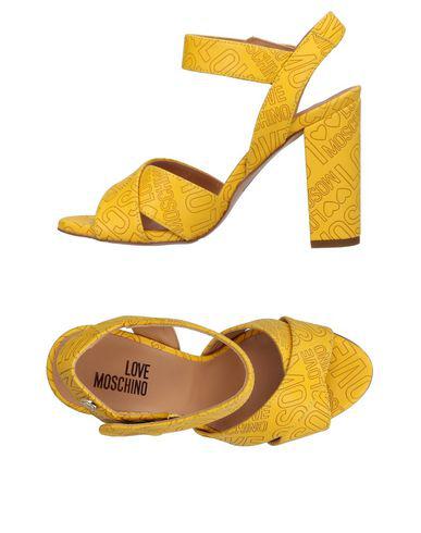 Love Moschino Sandals In Yellow
