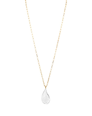 Aqua Droplet Pendant Necklace, 34 - 100% Exclusive In Gold/clear