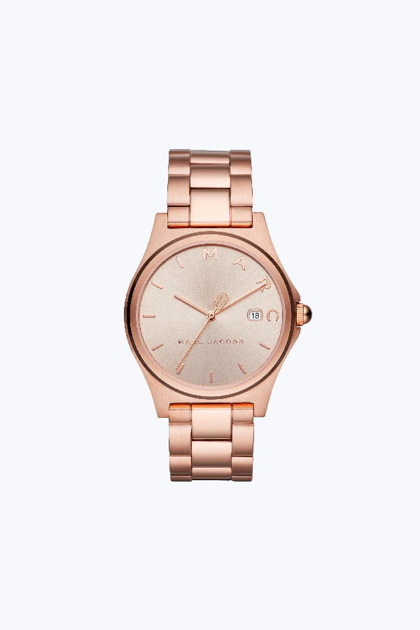 Marc Jacobs Henry Bracelet Watch, 39Mm In Rose Gold