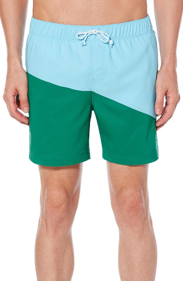 01b99cd9d6 Original Penguin Color-Block Swim Trunks - 100% Exclusive In Blue Topaz
