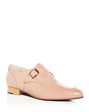 Freda Salvador Women's Dig Leather Monk Strap Oxfords In Pink