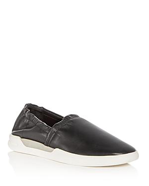 Donald Pliner Women's Gene Leather Slip-on Sneakers In Black