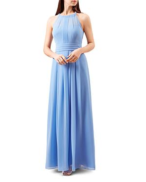 Hobbs London Alexis Pleated Gown In Cornflower Blue