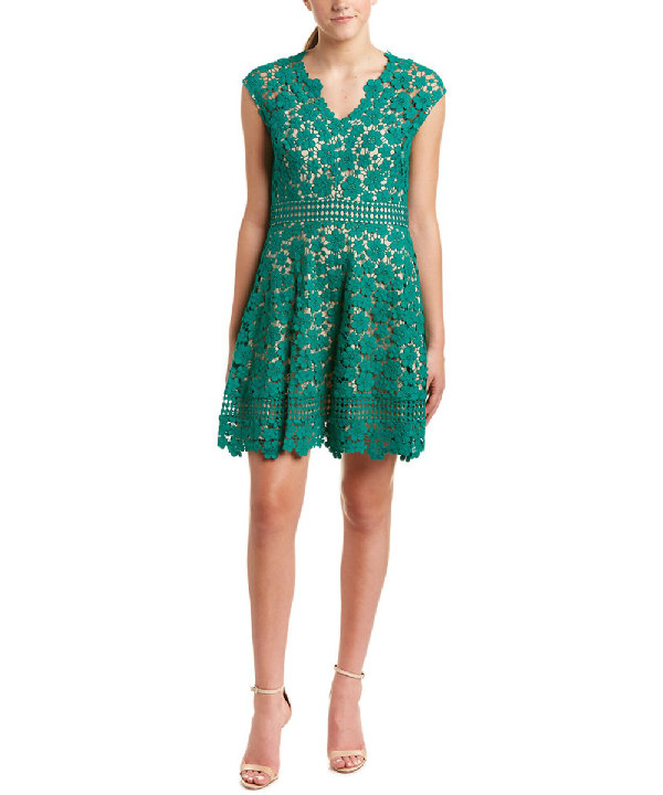 Shoshanna A-line Dress In Green