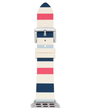 Kate Spade Apple Watch Strap, 25mm In Blue/ White/ Pink
