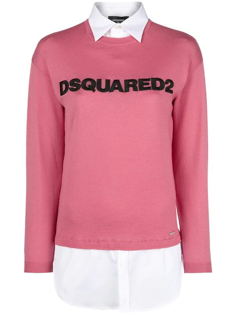 Dsquared2 Logo Sweater - Pink