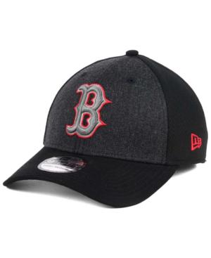 New Era Boston Red Sox Black Heathered 39thirty Cap