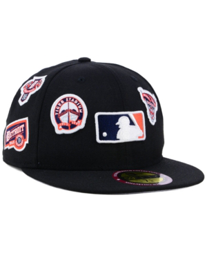 New Era Detroit Tigers Ultimate Patch Collection All Patches 59fifty Cap In Black