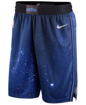 Nike Men's Orlando Magic City Swingman Shorts In Black/white