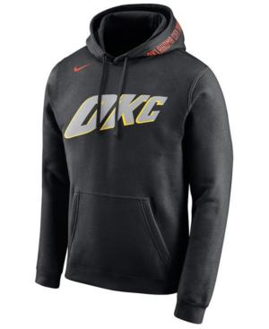 Nike Men's Oklahoma City Thunder City Club Fleece Hoodie In Black