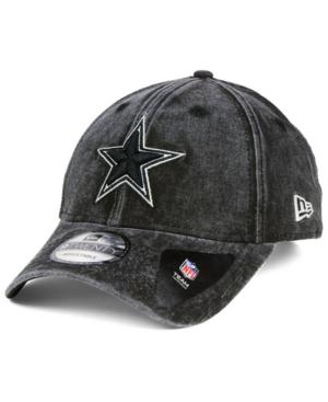 New Era Dallas Cowboys Nfl Italian Wash 9twenty Cap In Black/white