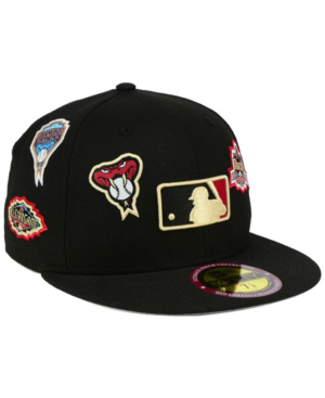 New Era Arizona Diamondbacks Ultimate Patch Collection All Patches 59fifty Cap In Black