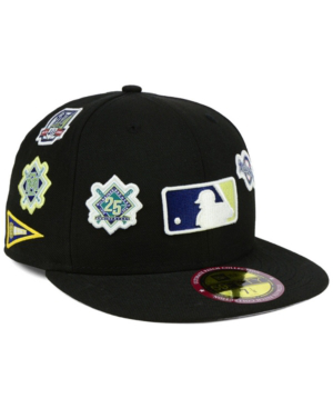 New Era Milwaukee Brewers Ultimate Patch Collection All Patches 59fifty Cap In Black