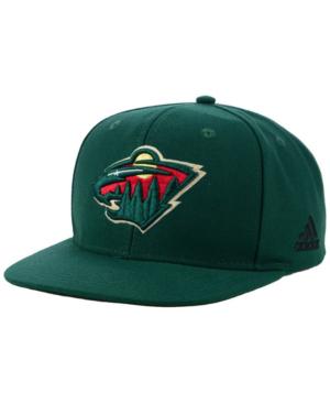 Adidas Originals Adidas Minnesota Wild Core Snapback Cap In Green