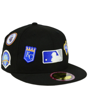 New Era Kansas City Royals Ultimate Patch Collection All Patches 59fifty Cap In Black