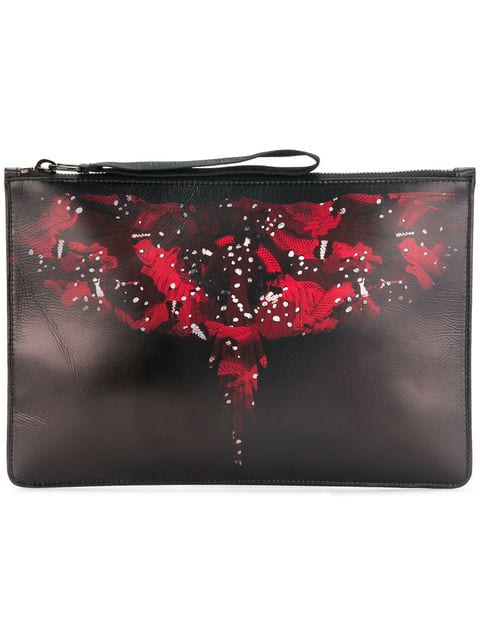 Marcelo Burlon County Of Milan Black & Red Wing Pouch In Nero Rosso